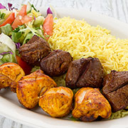 Chicken and Beef Kebab