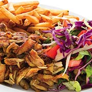 Chicken Shawerma and Fries